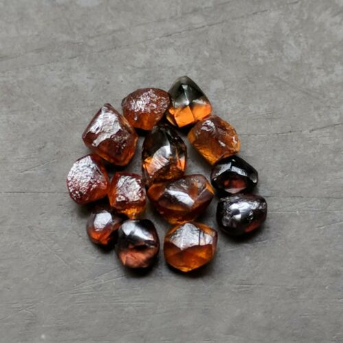Beautiful 13 Pieces 3.39 Carat Red Brown Color VVS Clarity Natural Rough Diamond