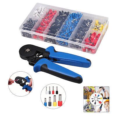 0.25-10mm 6-4 Ferrule Crimping Plier 1200x Connectors Terminal Crimp Tool Kit