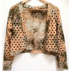 AS NEW Boho Gypsy Long Sleeve Cropped Bolaro Cardigan Jacket Exc Cond North Melbourne Melbourne City Preview