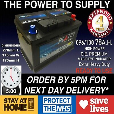 New Genuine OEM Heavy Duty Car Battery - Type 096 100 76ah 4 YEAR NORTHERN IRELA for sale  Shipping to Ireland