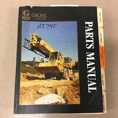 Grove Rt745 Crane Parts Manual Book Catalog List Rough Terrain Hydraulic Guide