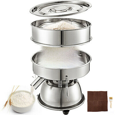 12 Stainless Steel Electric Vibrating Sieve Machine For Powder Particles 110v