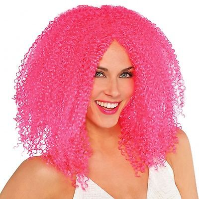 Pink Cool Clown Crimped Wig Hair Style Circus Sweetie Monster Halloween Jester (Halloween Hairstyles)