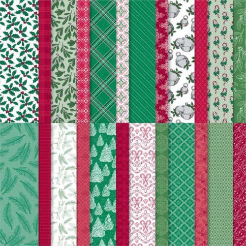 Stampin Up 'TIS THE SEASON Designer Series Paper-12 Sheets of 6x6, WINTER- TREES