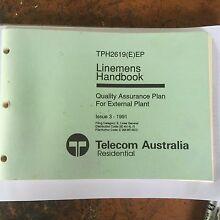 1991 Telecom Linesmans Quality Assurance Handbook Thagoona Ipswich City Preview