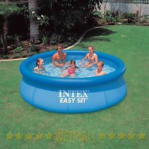 Intex 10 039 x30 034 above ground easy set inflatable swimming pool ebay Inflatable quick set swimming pool