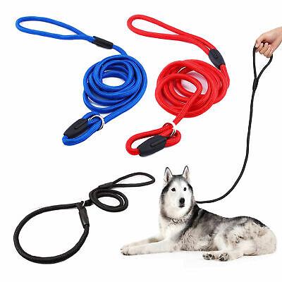 Nylon Rope Training Leash Slip Lead Strap Adjustable Traction Collar for Pet Dog