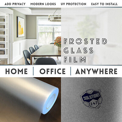 """Frosted Glass Film Bedroom Bathroom Home Window Tint Static Cling 48""""x120"""" Inch"""