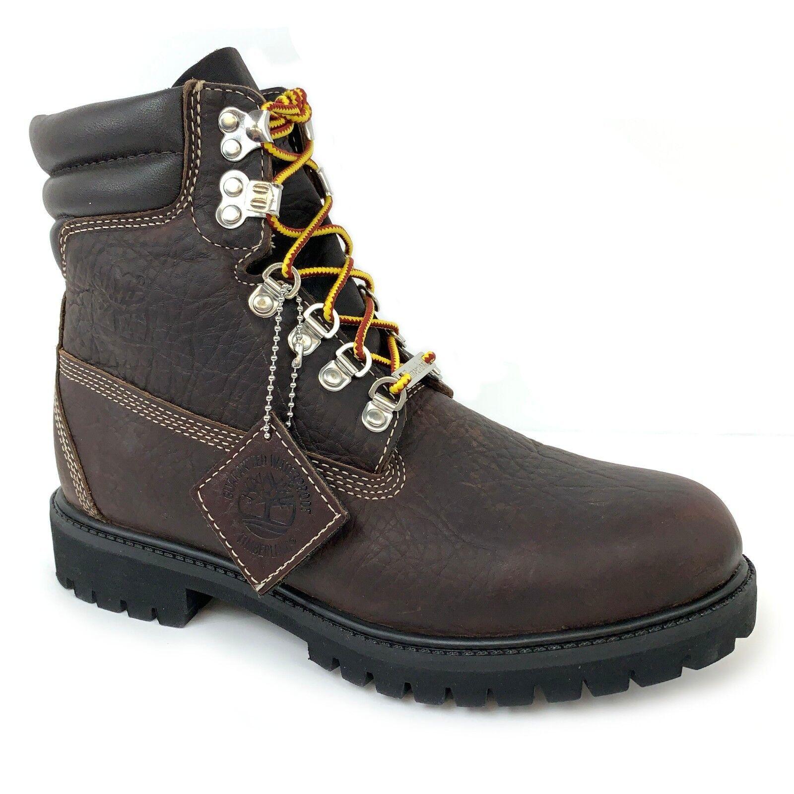 "Timberland Men's 6"" Premium 640 Below Waterproof Dark Brown Leather Boots A1UKI"