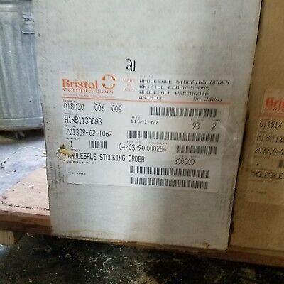 Bristol Compressor H1nb113abab 115-1-60 11000 Btu Bristol Compressor