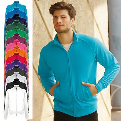 Fruit of the Loom: Herren Lightweight Sweatjacke 14 Farben angeraut 62-160-0 NEU ()