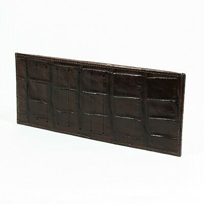 Brown Real Crocodile Alligator Leather Belly Skin Mens Slim Credit Card Wallet.