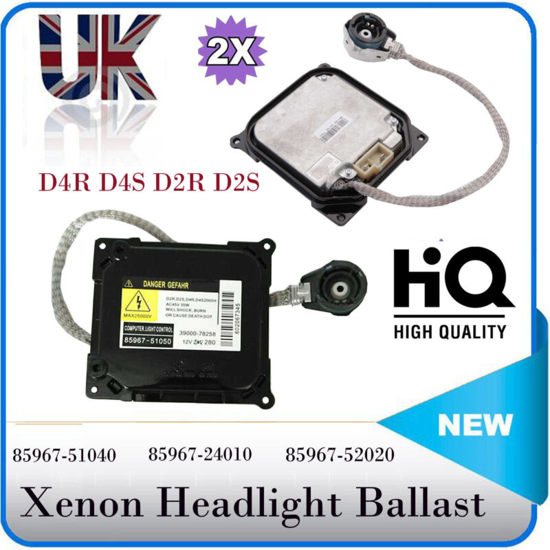 2x Xenon HID Headlight Ballast D2S Control Unit ECU for Toyota Lexus 85967-24010