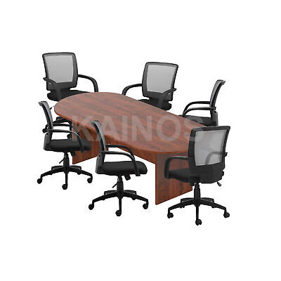Gof 8ft Conference Table Chair G10900b Set-cherryespresso Mahogany Walnut