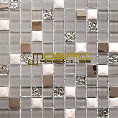 Glass, Stone, and Metal Mosaic Tile,
