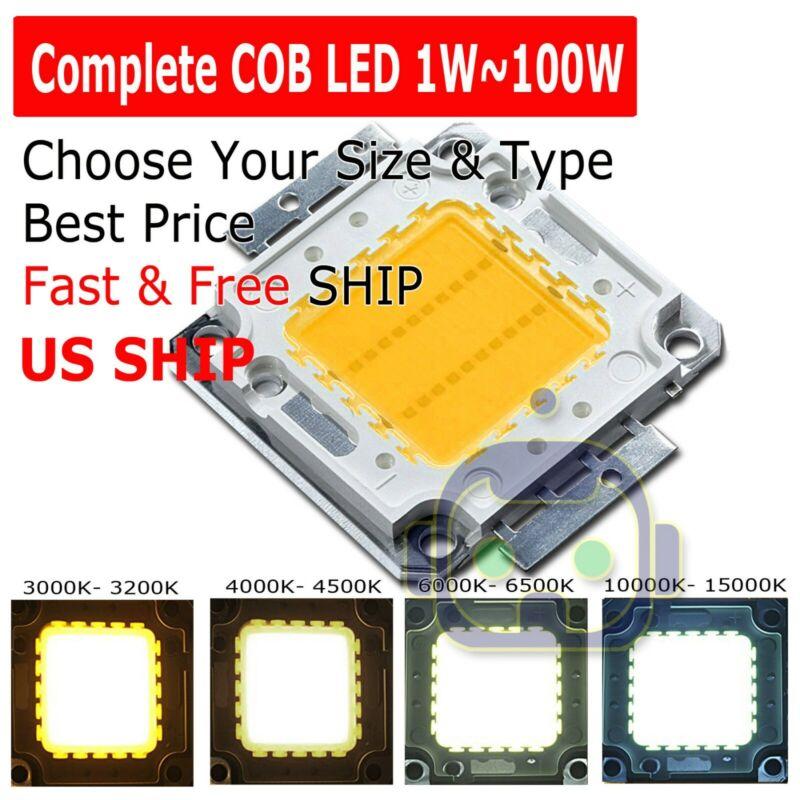 1W 3W 5W 10W 20W 30W 50W 100W High Power RGB Full Color COB LED Beads Lamp Chip