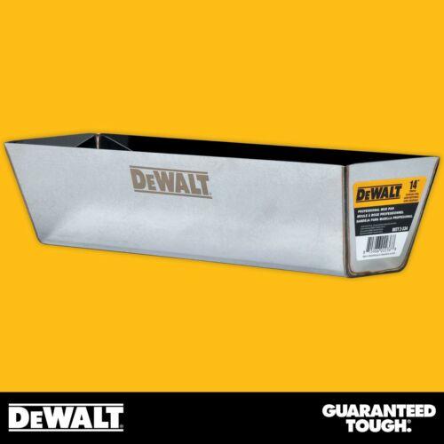 "DEWALT Drywall Mud Pan 14"" Mixing Compound Paint Heli-Arc Weld Contoured Bottom"