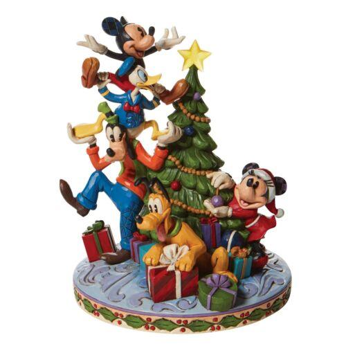 Jim Shore Disney Traditions *NEW* FAB 5 DECORATING TREE Figurine 6008979