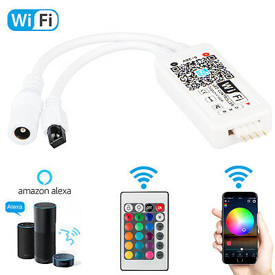 Rgb Led Strip Controller - Mini Wifi Wireless Controller+ 24-Key IR Remote For 5050 RGB LED Strip Light New