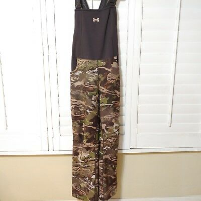 Under Armour Women's Forest Camo Stealth Mid Season Scent Control Bib Size Small