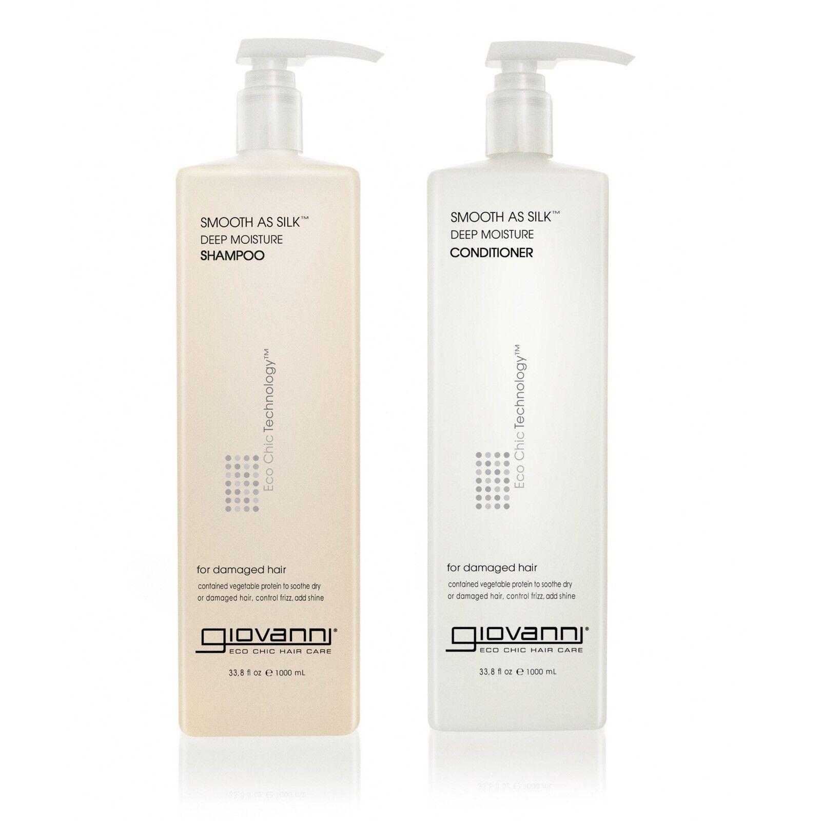 Giovanni Cosmetics Smooth As Silk Deep Moisture Shampoo, 33.