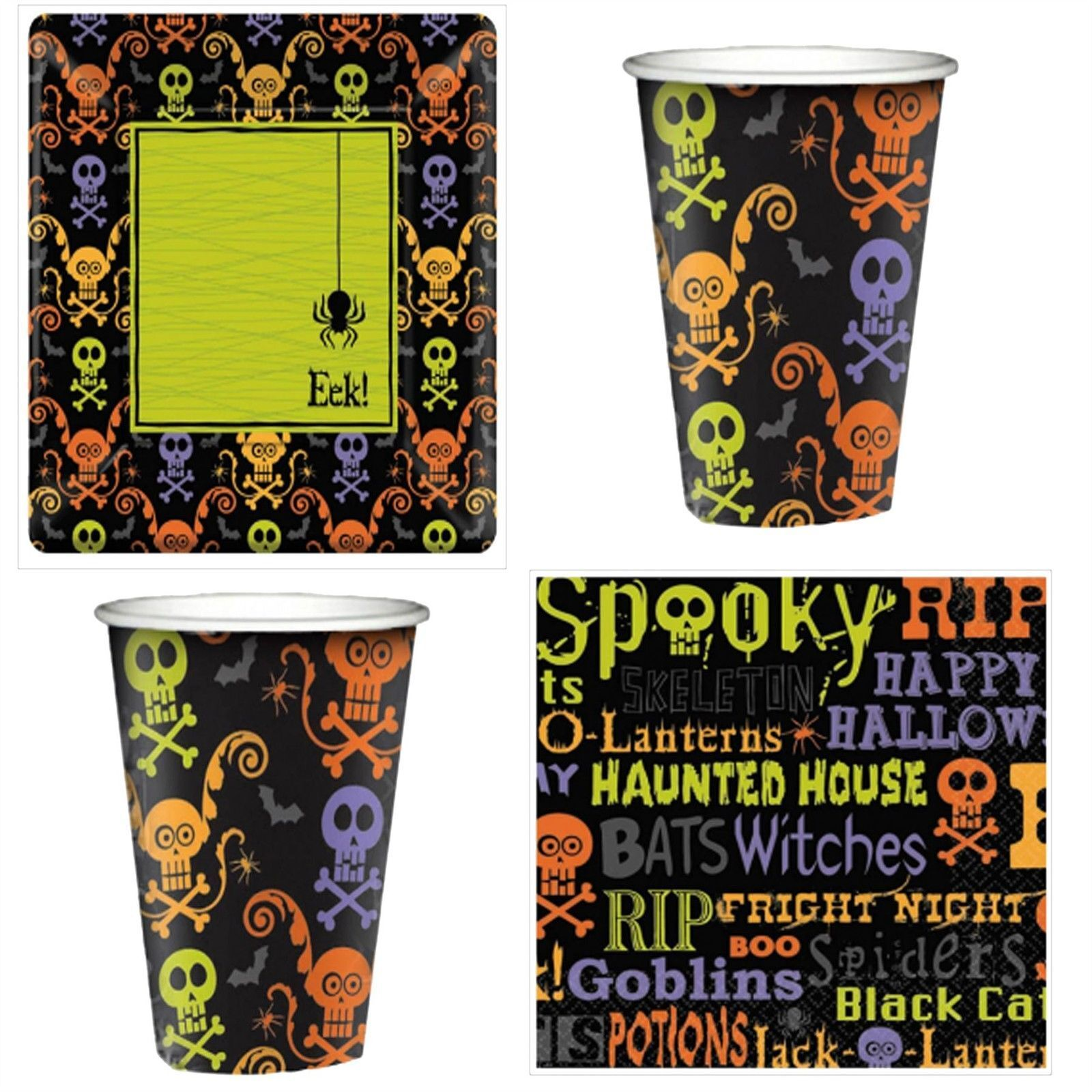 Halloween Party Plates Cups and Napkins