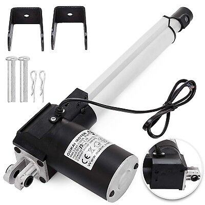 6 Inch Stroke Linear Actuator 6000n1320lbs Pound Max Lift 12v Volt Dc Motor