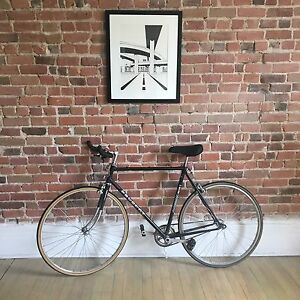 Black Peugeot Single Speed Bike