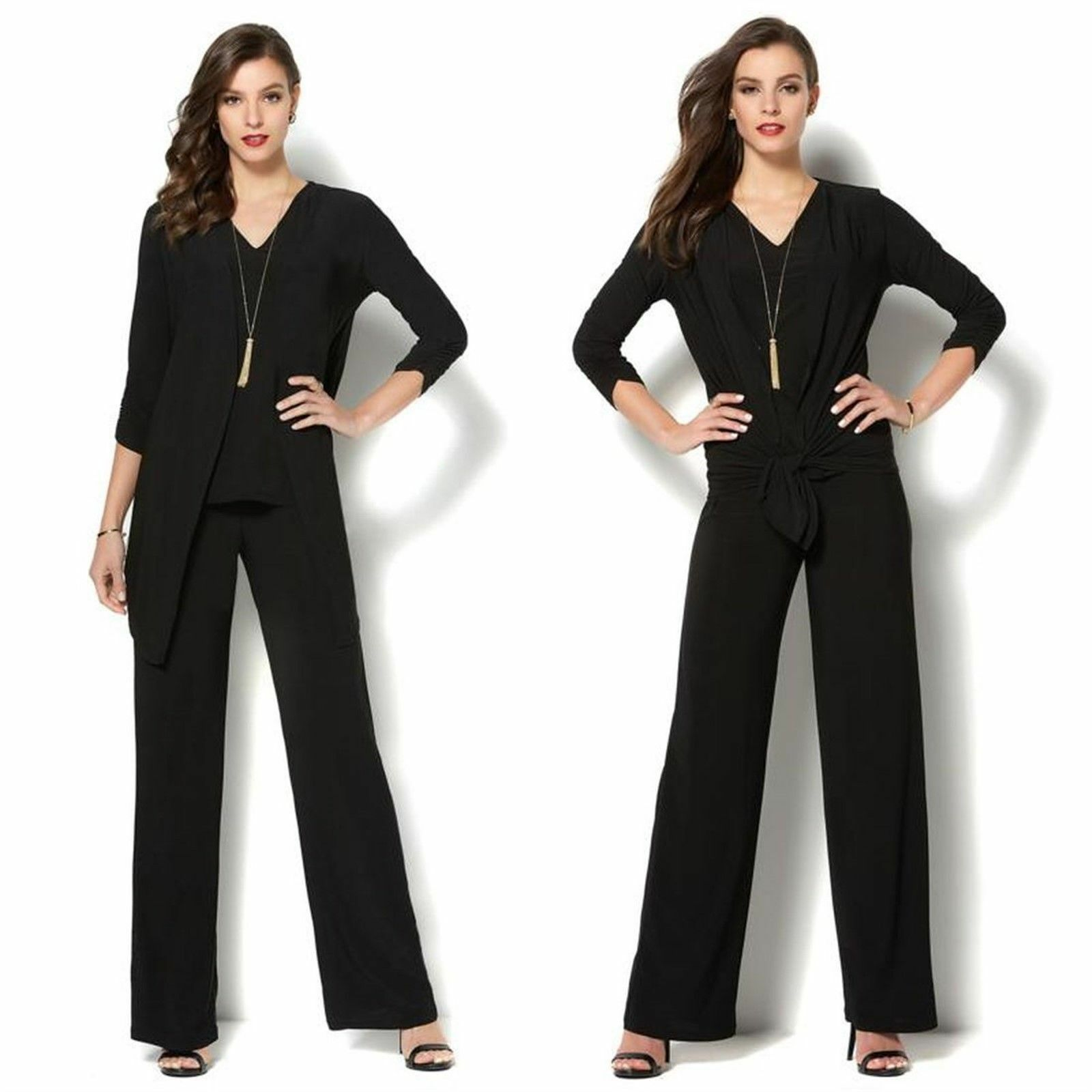 IMAN Global Chic Luxe 3-Pc Perfect Party Pant Ensemble EMERALD L Avg NEW 579-000