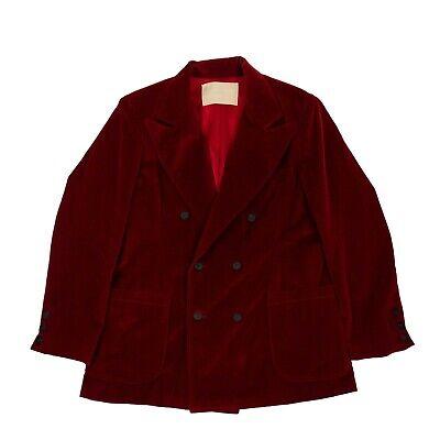 NWT ENFANTS RICHES DÉPRIMÉS Red Velvet Blazer Jacket Size L $2675