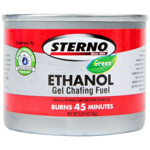 6 CANS- STERNO GREEN ETHANOL GEL CHAFING FUEL SUSTAINABLE & BIODEGRADABLE