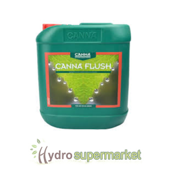 CANNA  FLUSH 5L HYDROPONIC SOIL COCO REMOVES EXCESS NUTRIENTS