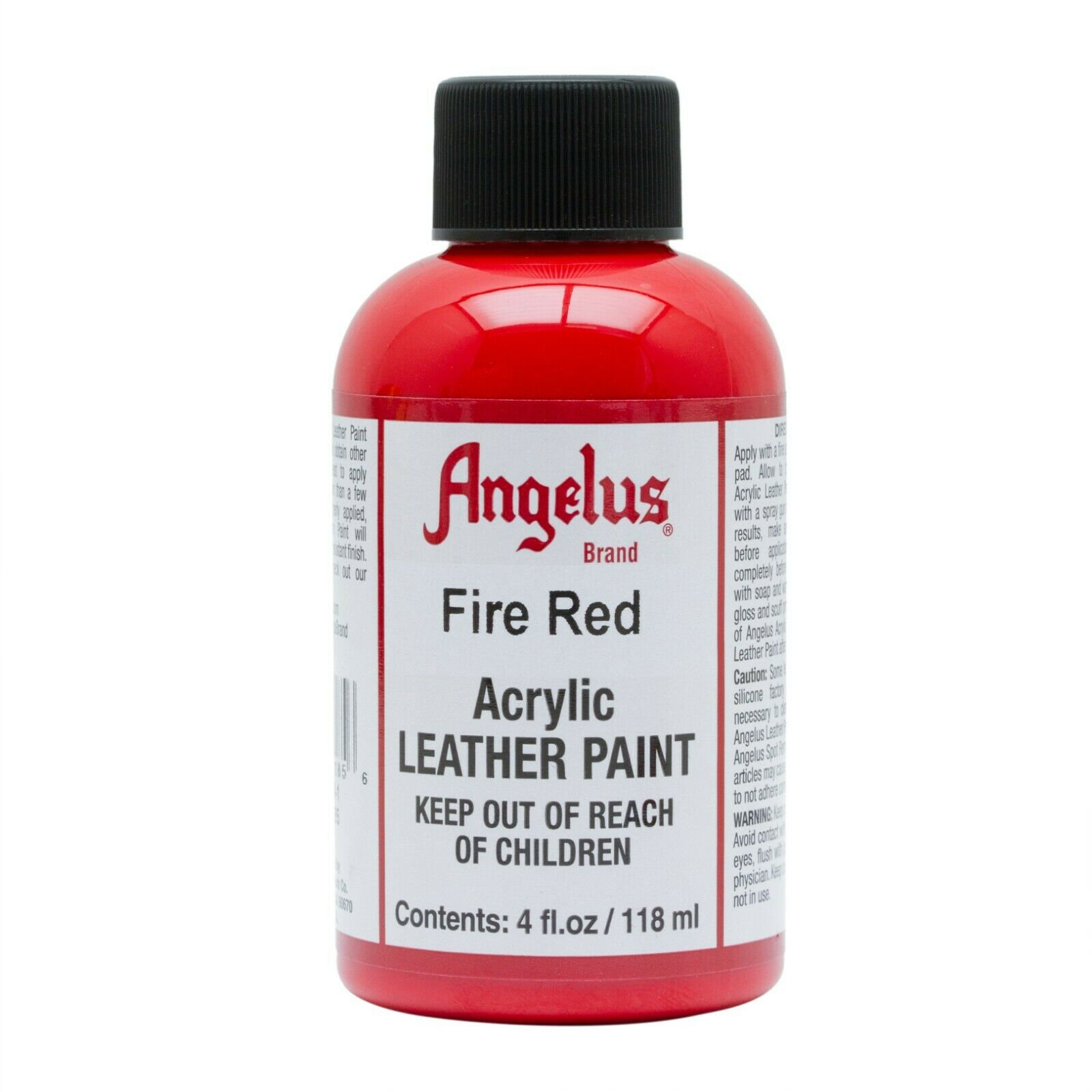 Angelus Acrylic Leather Paint Fire Red 4oz Crafts
