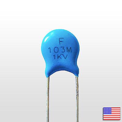 5x 5pcs 1000v .01uf High Voltage Ceramic Capacitor 103m 1kv 0.01 Uf Mfd 10nf