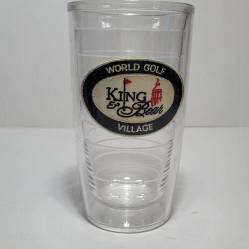 (1) TERVIS TUMBLER 16oz World Golf Village King Bear  no lid -  Nice!