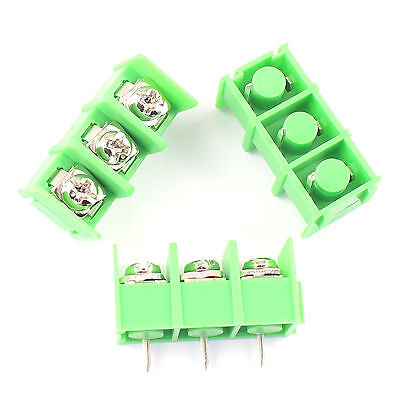10pcs New 8.5mm Pitch 3 Pin 3 Way Pcb Barrier Terminal Block Connector 300v 20a