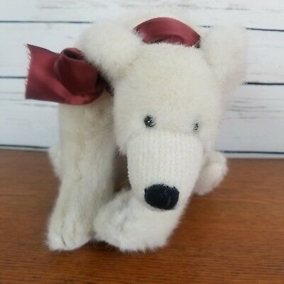 Boyds Bear Polar Red Ribbon Stuffed Plush Jointed Archive Collection