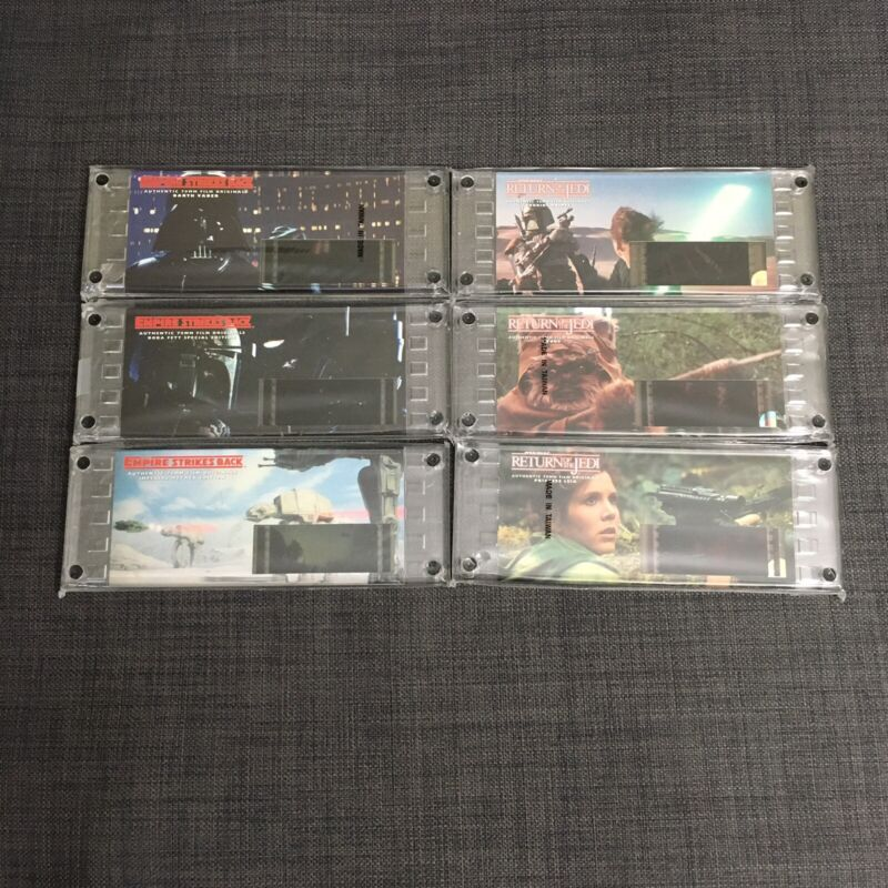 Star Wars Authentic 70mm Film Cell Collectible Lot