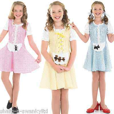 Mädchen Goldlöckchen Miss Muffet Dorothys Buch Tag Kostüm Kleid Outfit