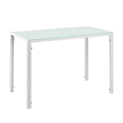 b-ware esstisch weiß küchentisch esszimmertisch glas tisch