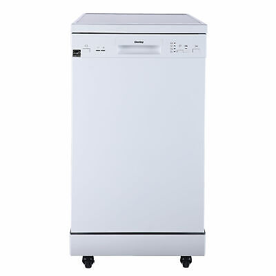 Danby 18 Inch 4 Wash Cycle Portable Dishwasher, Crisp White (For parts)