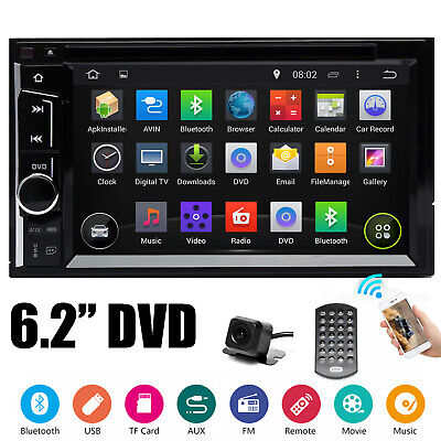 Mirror Link for GPS Car Stereo DVD CD Radio HD Player Bluetooth w/ Backup Camera