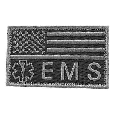 Medic American EMS subdued embroidered morale MED tactical paramedic cap patch