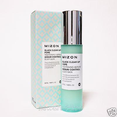 MIZON Black Clean Up Pore Tightening Serum 50ml Sebum Control Silky Skin - Sebum Control Serum