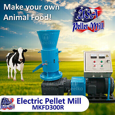Electric Rotating Roller Pellet Mill For Cows Food - Mkfd300r - Usa