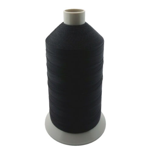 Black Bonded Nylon Upholstery Thread Size 138, Tex 135, 16 Oz. 3000 Yards