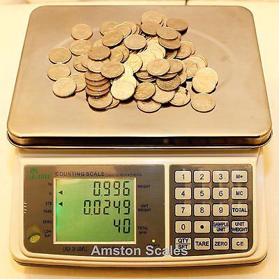 31 Off Refurbishedused Counting Parts Coin Scale 33 X .001 Lb 15 Kg X 0.5 Gram