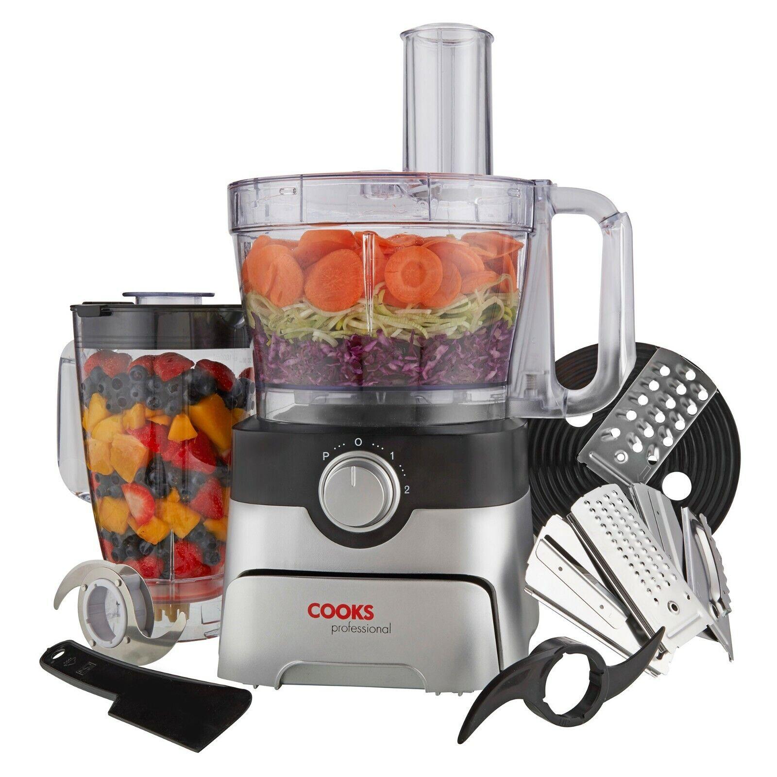 Cooks Professional 1000W Food Processor Kitchen Blender ...