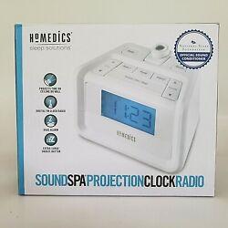 Homedics Soundspa Time Projection Digital FM Clock Dual Alarm Radio SS-4520B