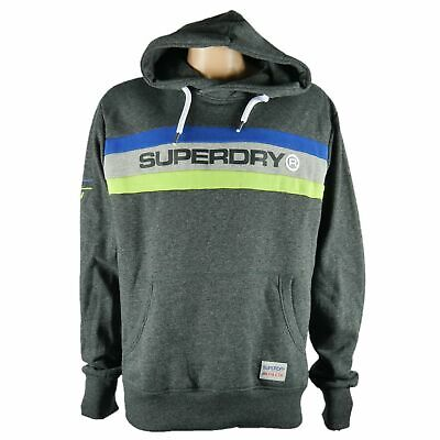 Superdry Hoodie Fleece Pullover Sweater Mens Size 3XL Black Grit New $198 Trophy
